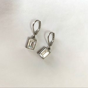 Givenchy Rectangular Crystal Drop Earrings